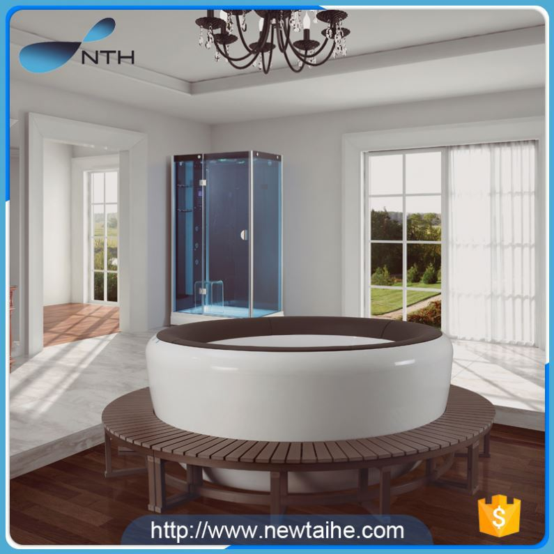 NTH factory price eco-friendly ETL ivory pentagon bathtubs
