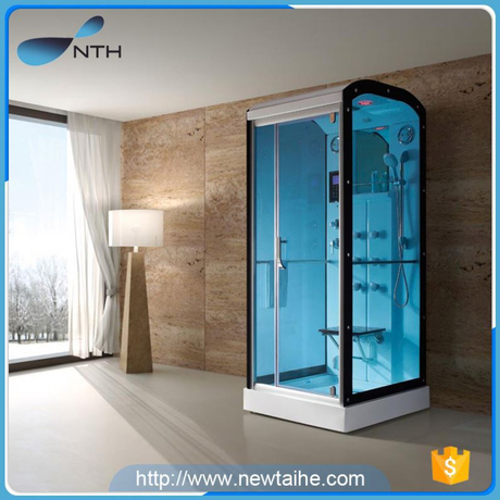 NTH china new products traditional restroom glass enjoyment shower and massage steam spa with mirror