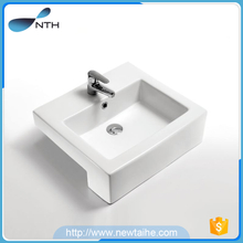 Wash hand ceramic portable bathroom sink