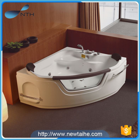 NTH high quality custom restroom 220V common walk in bathtub with shower with under water light