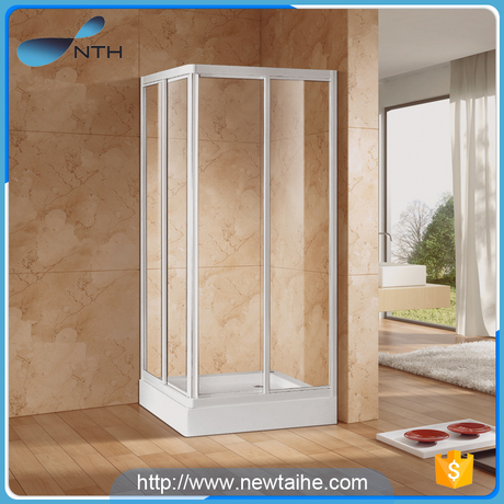 NTH custom sizes cheap price tempered glass self contained bath shower cubicles