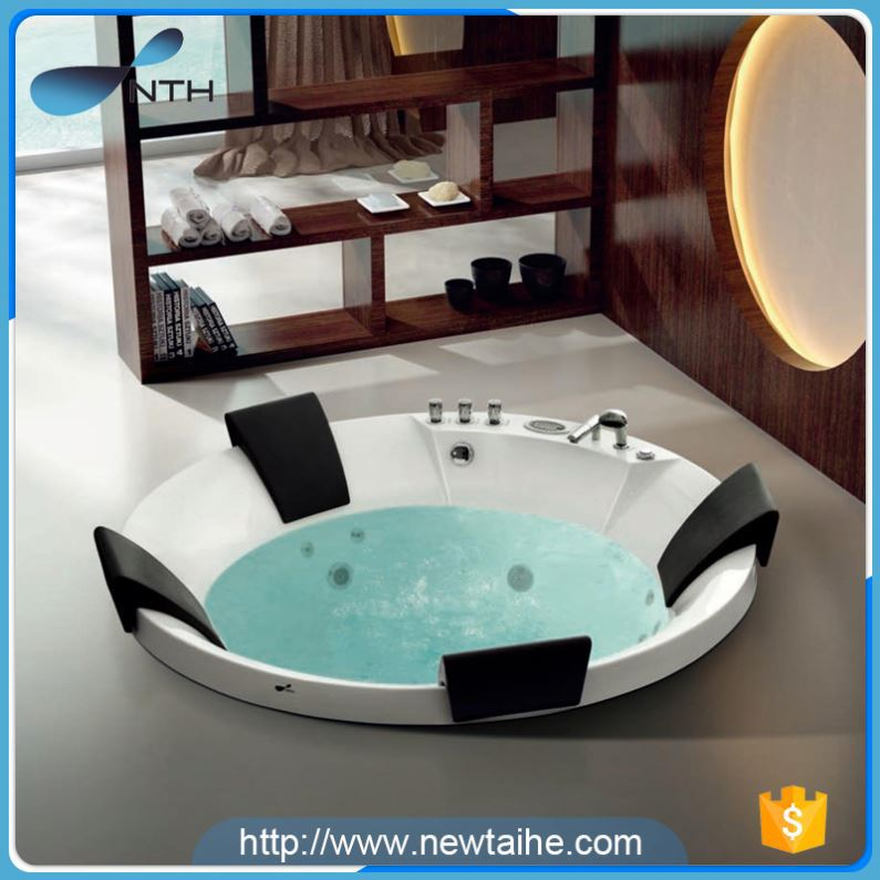NTH china oem manufacturer new suite one person new products indoor acrylic massage bathtub