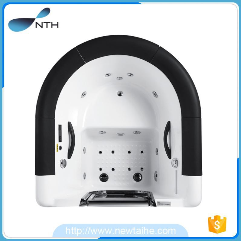 NTH hot products portable restroom massage baignoire noire spa with led light