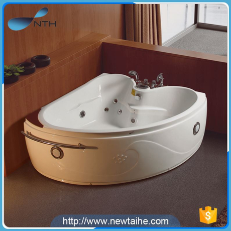 NTH china wholesale market simple holiday house 2 adult acrylic bathtub with legs