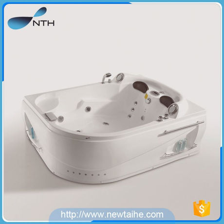 NTH top selling products 2017 personalized rooms ivory bathroom spa whirlpool portable bathtub with hand shower