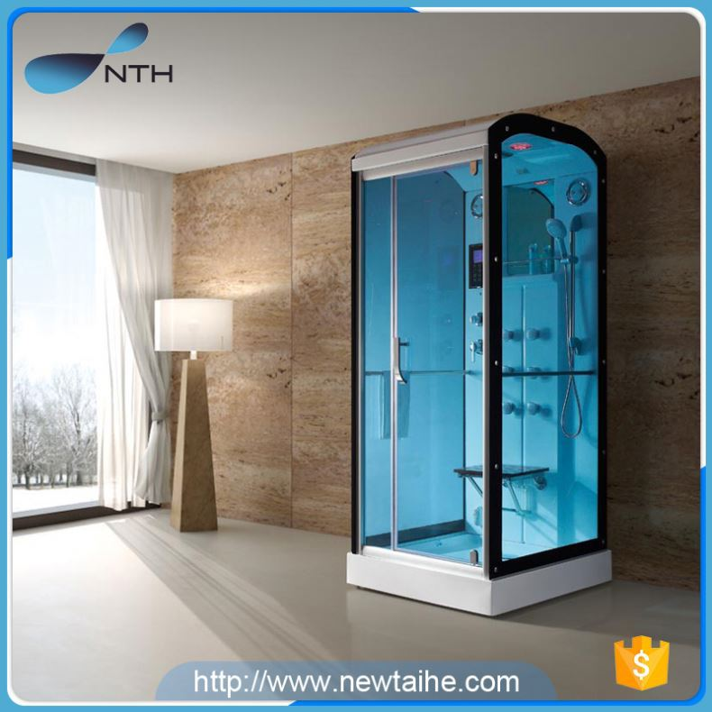 NTH new product stylish ISO9001 220V home use steam room with shampoo shelf