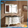 Wood mirror makeup bathroom vanity