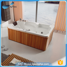 Cheap price wooden shell bathtub