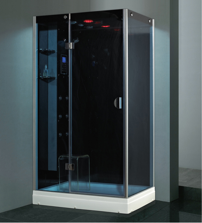 Glass corner steam bath shower cabin