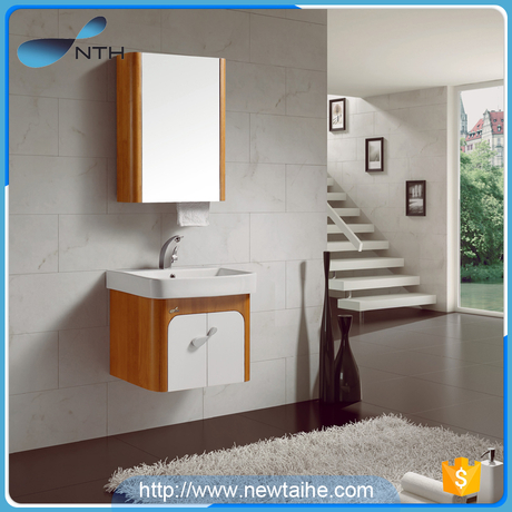 Solid wood bathroom vanity cabinets with mirror