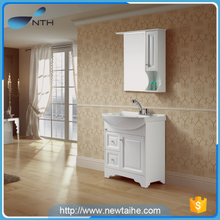 Wall mounted solid wood makeup bathroom vanity