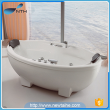 Two sided stone bowl small bathtub with leg