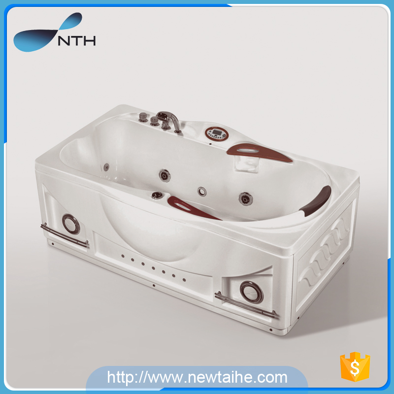 Acrylic small square bathtub with massage jets